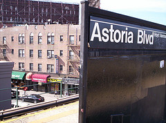 The Astoria Boulevard Train Station In Astoria, Queens