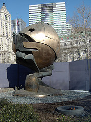 A Sculpture Known As The Sphere