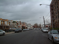 A Cloudy Evening At Bensonhurst, Located In The South-western Part Of Brooklyn