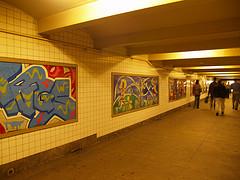 Framed Graffiti Adorns Subway Walls In Briarwood,  Queens