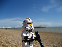 Lego Clone Trooper On Brighton Beach