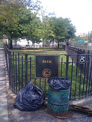 Park, Brooklyn. Most New York City Parks Have An Explanatory Plaque Noting The Name