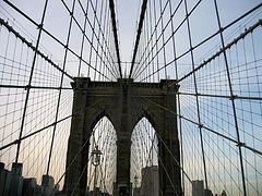 Brooklyn Bridge, One Of The Oldest Suspension Bridges, Stretching 5989 Feet Over The East River