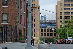 View Of Brooklyn Heights, With Brooklyn And Manhattan Bridges At The Background