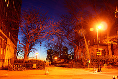 As The Sun Goes Down The Lights Come On Here In Brooklyn Heights, Brooklyn.