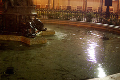 One Of The Fountains In Cadman Plaza