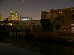 Gowanus Canal, Dazzling In The Middle Of Park Slope And Carroll Gardens At Night