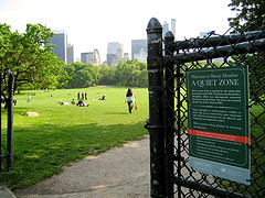 Sheep Meadow, A Quiet Place In Central Park