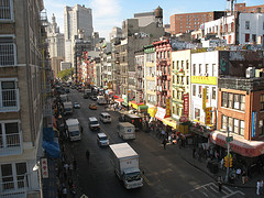 New York Chinatown from The Manhattan Bridge