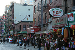 People Gather To Shop And Explore In Chinatown, Manhattan