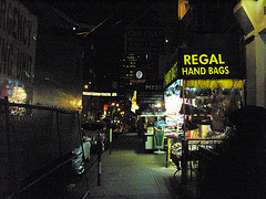 A Shop Selling Handbags In Chinatown, Manhattan