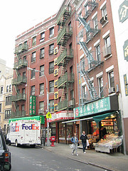 Apartment Buildings Above Shops In Chinatown Manhattan