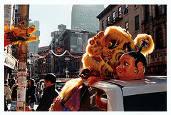 A Decorated Car In Chinatown, Manhattan.
