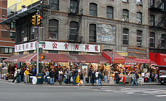 The Chinatown  Is District With A Large Population Of Chinese Immigrants