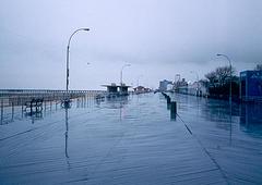 Coney Island Boardwalk, Brooklyn, New York, March 2003