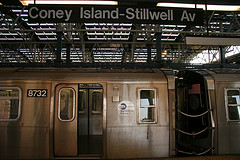 Subway's D Line Ends At Coney Island-Stillwell Avenue