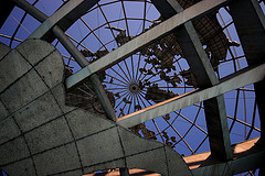 Neat View Of The Unisphere Looking Straight Up To The North Pole