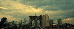 Storms Loom Over The Brooklyn Bridge.