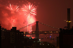 Fireworks From Downtown Brooklyn, Ny
