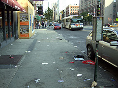 After The Party! - East Village Streets, Manhattan In New York City