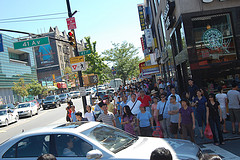 Crowded Streets In Flushing