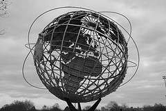 The Unisphere In Flushing Meadows??corona Park, The Site Of The 1939/1940 World's Fair.
