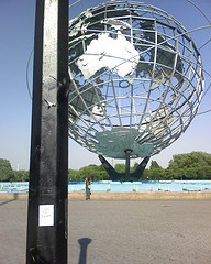 Unisphere,  Appreciated By A Women But Unfortunately Obstructed