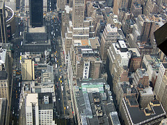 View Of Garment District As Seen From The Observation Deck Of The Empire State Building