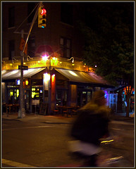 Cafe On The Corner In Greenwich Village.