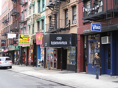 Street Side Shops In Greenwich Village.