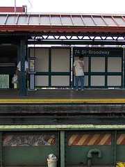A Train Station In Jackson Heights, Queens.