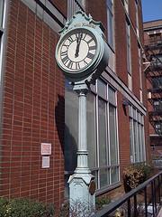 An Interesting Clock In Lenox Hill  A Neighborhood On Manhattan's Upper East Side.