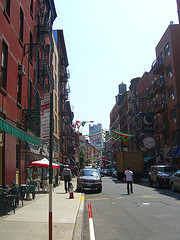 Walking Through The Little Italy, Named After The Large Population Of Italians In The Locality