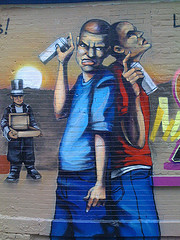 Taggers, 2nd Street Loisaida, part Of A Mural