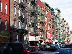 Apartment Buildings On Lower East Side.