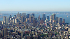 A View Towards The Lower Manhattan From The Empire State Building.