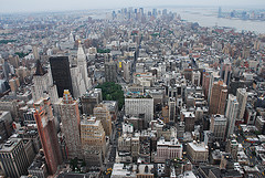 An Aerial Vantage Point Of Lower Manhattan In New York