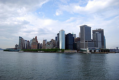 Lower Manhattan As Viewed From The Staten Island Ferry