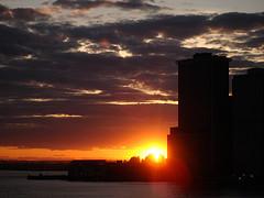 Beautiful Sunset View Of Lower Manhattan