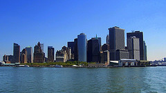 Manhattan Skyline From Across The River