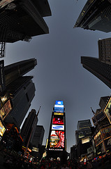 An Eyeball View Of Time Square