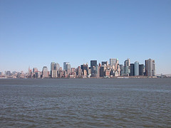 The Manhattan Skyline As Viewed From The Hudson River