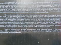 Sign Memorializing History Of Marble Hill,  Manhattan Neighborhood