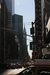 A View Of The Street Of Midtown Manhattan