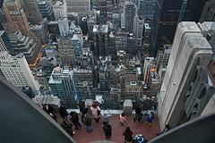 An Aerial View Of Midtown Manhattan