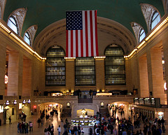A Photo Of Grand Central Station Filled With Passengers At 42nd Street.