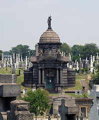 Johnston Tomb, Calvary Cemetery. It's Huge In Woodside, Queens, New York City
