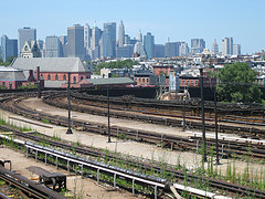 View Of Red Hook, Brooklyn From The Side Lines Of The Railroad Tracks