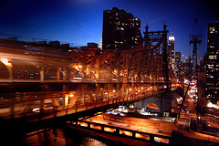 The Queensboro Bridge By Night, The Streetlights Shining