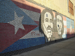 Artwork Adorns Most Of This Wall In Spanish Harlem